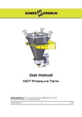 NDT Pressure Tank|User Manual