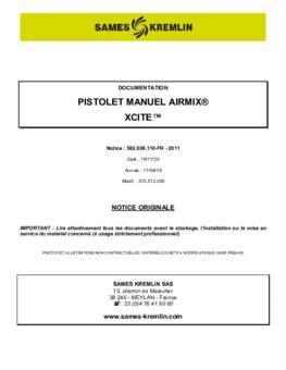 Xcite Airmix | Manuel d'utilisation