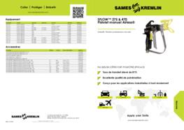 SFLOW™ 275 & 450 Pistolet de peinture manuel Airless®