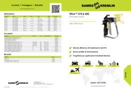 Sflow™ 275 & 450 Pistola Airless manuale