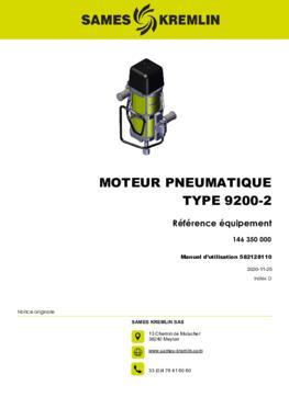 Moteur 9200-2 REXSON Dispense | Manuel Utilisation