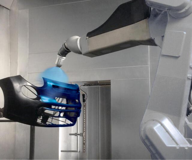 Solución de pulverización robótica para parachoques