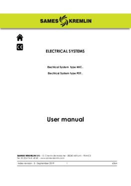 Electrical systems  User manual