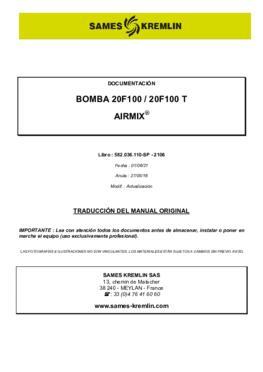 20F100 / 20F100 FT   Manual de instrucciones