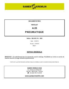 A 25 | Manuel d'utilisation