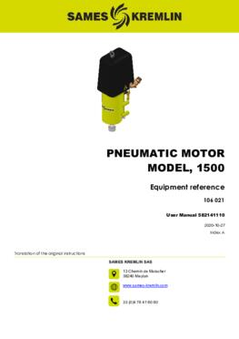 Motor 1500 REXSON Dispense | User manual