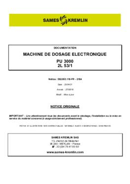 PU3000 2L 53/1   Manuel d'utilisation