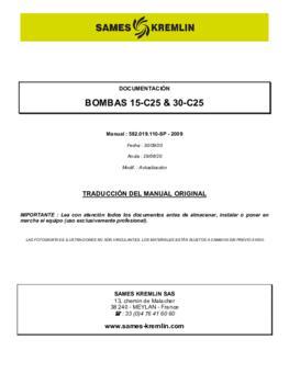 15C25 / 30C25 | Manual de instrucciones