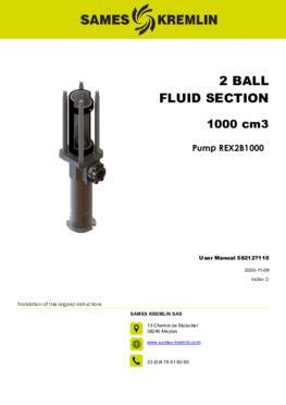 REX2B1000 REXSON Dispense | User Manual