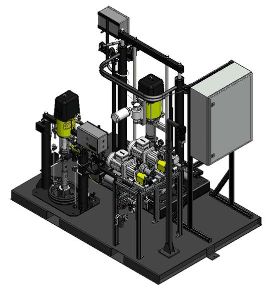 E60 2K Maschine mit Zahnradpumpe