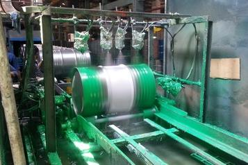 drum coating horizontal line