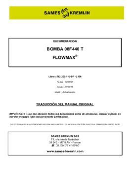 08F440 T | Manual de instrucciones