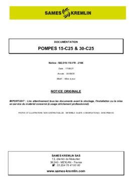 15C25 / 30C25 | Manuel d'utilisation