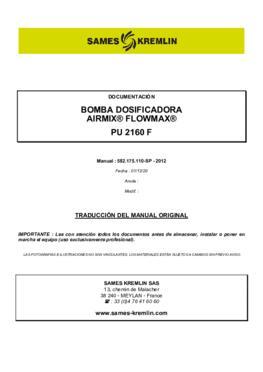 PU 2160F | Manual de instrucciones