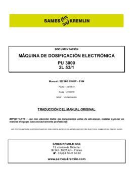 PU3000 2L 53/1   Manual de instrucciones