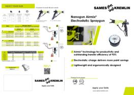 Leaflet Nanogun Airmix® Manual Electrostatic Airmix® Spray Gun (English version) SAMES KREMLIN