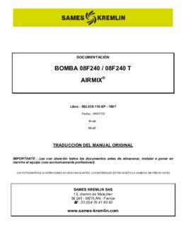 08F240 / 08F240T | Manual de instrucciones