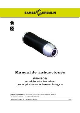 PPH 308 Cable alta tensión para pinturas a base de agua | Manual de empleo