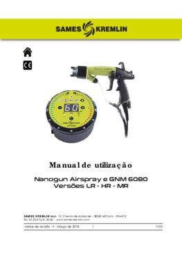 Nanogun Airspray + GNM6080 (LR - HR) | Manual Instruções