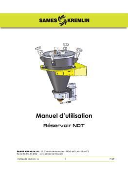 NDT Pressure Tank|Manuel d'instructions