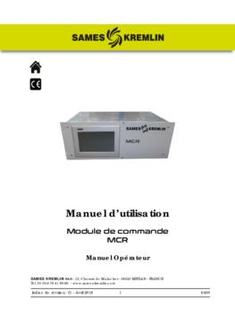 MCR | Manuel opérateur