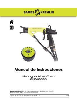 Nanogun Airmix H2O + GNM 6080 |Manuale de instrucciones