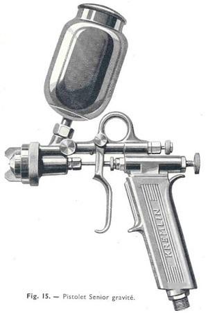 Pistolet pneumatique version gravité