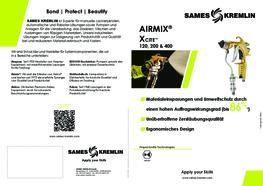 Broschüre Xcite™ manuelle Airmix® Spritzpistole