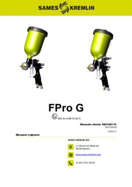 FPro G & GSP | Manuale utente