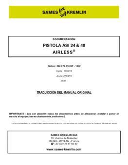 ASI 24 & 40 Airless® | Manual de instrucciones