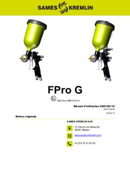 FPro G & GSP| Manuel d'utilisation