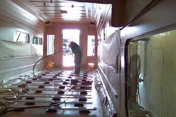 (4) Sound Deadening & Fire barrier coating