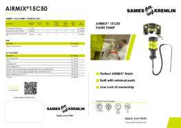 Leaflet 15C50 Airmix® Paint Pump (English version) SAMES KREMLIN