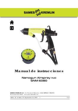 Nanogun Airspray H20 + GNM 6080 | Manual de instrucciones