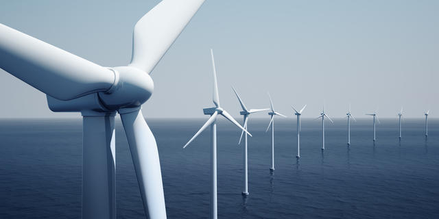 Offshore energy production by wind or subsea stream