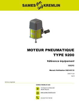 REXSON Moteur 9200 Dispense | Manuel utilisateur