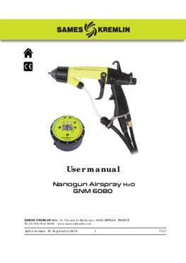 Nanogun Airspray H2O + GNM 6080 | User manual