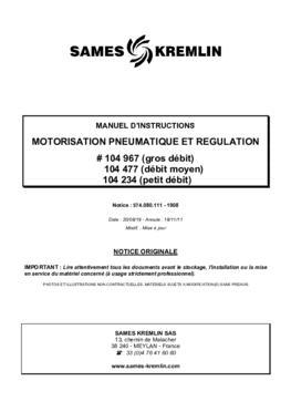 E 50 Motorisation pneumatique et régulation | Manuel d'utilisation