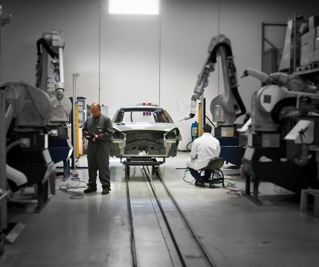Robotic car body finishing solution