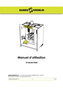 Inocenter centrale poudre | Manuel d'instructions