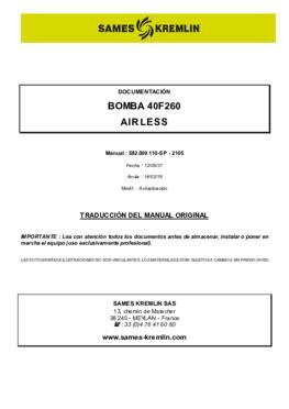 40F260   Manual de instrucciones