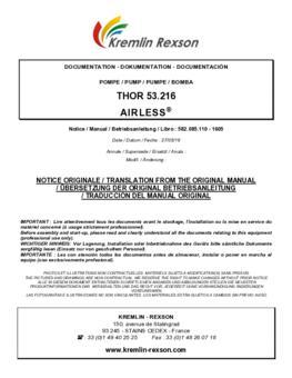 REXSON 53C216 | Manual Instruções