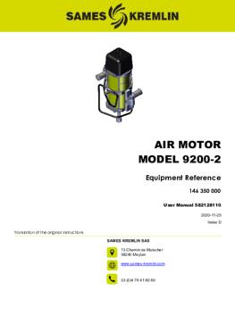 Motor 9200-2 REXSON Dispense | User manual