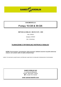 15C25 / 30C25  Instrukcja obslugi