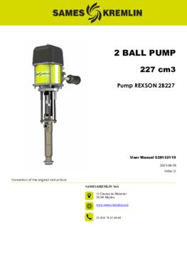 REX2B227 REXSON Dispense   User manual