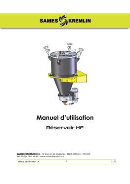 HF Pressure tank|Manuel d'instructions