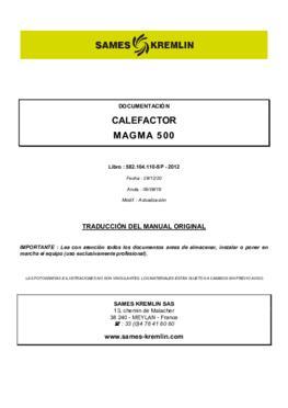 Heater Magma 500 | Instruction manual
