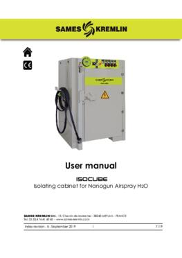 ISOCUBE pour Nanogun Airspray H2O | User manual