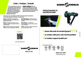 Brochure K3 Pistolet Manuel Electrostatique