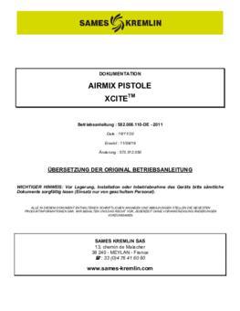 Xcite Airmix   Betriebsanleitung